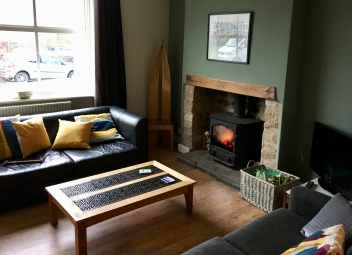 Lounge and woodburner